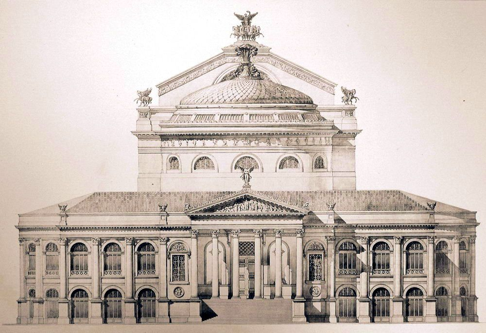 Front Elevation Of The Teatro Massimo Palermo Architecture Mapping Architecture Drawing Revit Architecture
