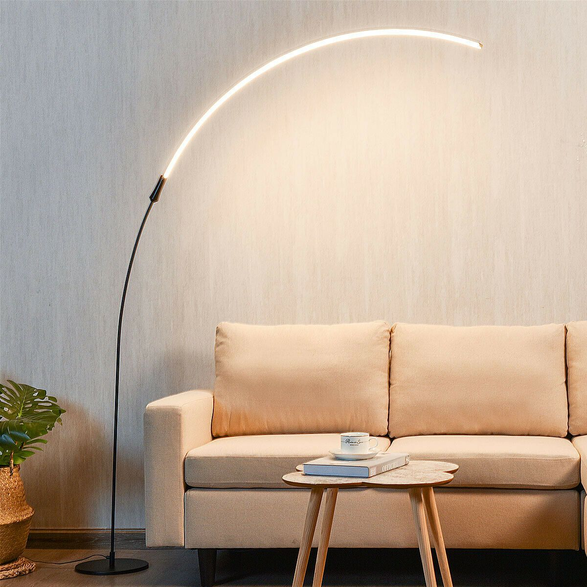 LED Arc Floor Lamp with 3 Brightness Levels in 2020 Arc