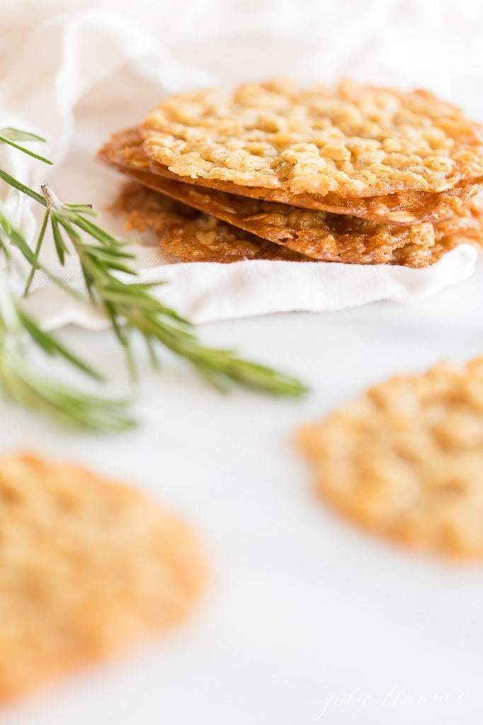 The best Oatmeal Lace Cookies  easy recipe with staple ingredients perfect for gifting