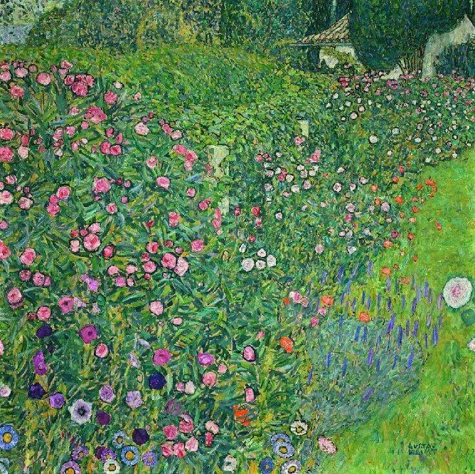 Gustav Klimt Italian Garden Landscape 1913 Jugendstil Malerei Klimt Landschaftsmalerei