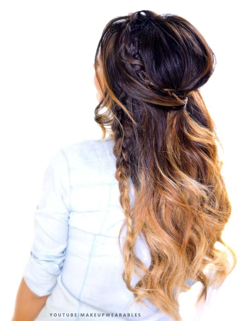 Half-up Poof #hairstyle with #Braids | cute hair tutorial video ...