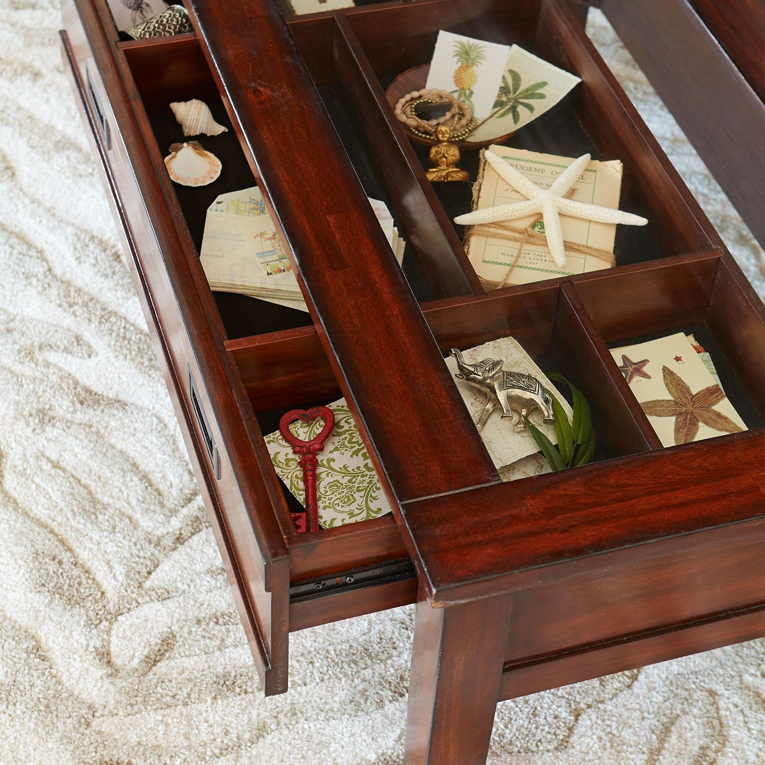 Shadow Box Coffee Table Pier 1 Imports Shell