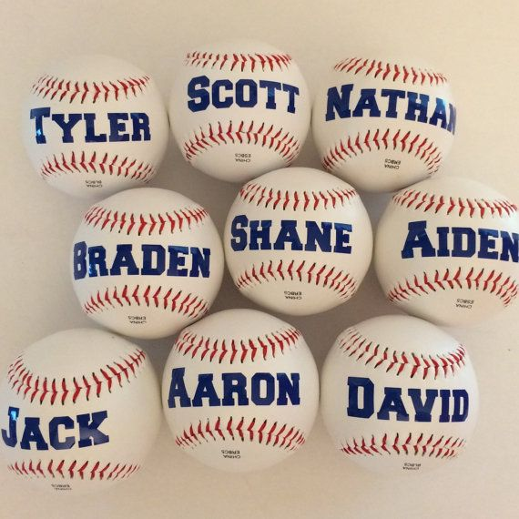 Personalized Baseballs Fun Party Favor For Baseball Theme Gift Players And
