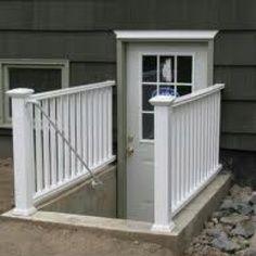 Convert Bulkhead To Walkout Google Search Basement Entrance Basement Apartment Basement Doors