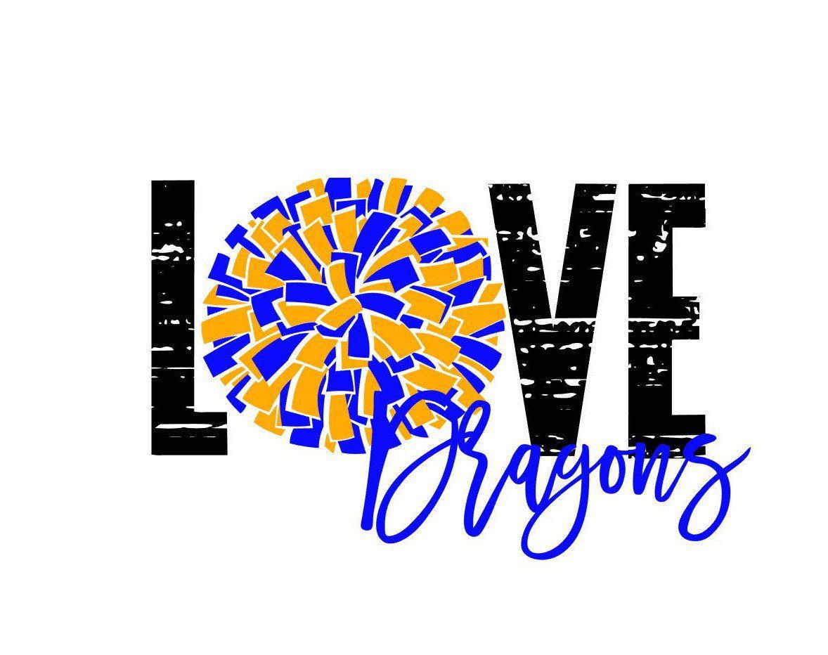 Download Love Distressed Dragons Cheer SVG   Cheer shirts, Cheer, Etsy