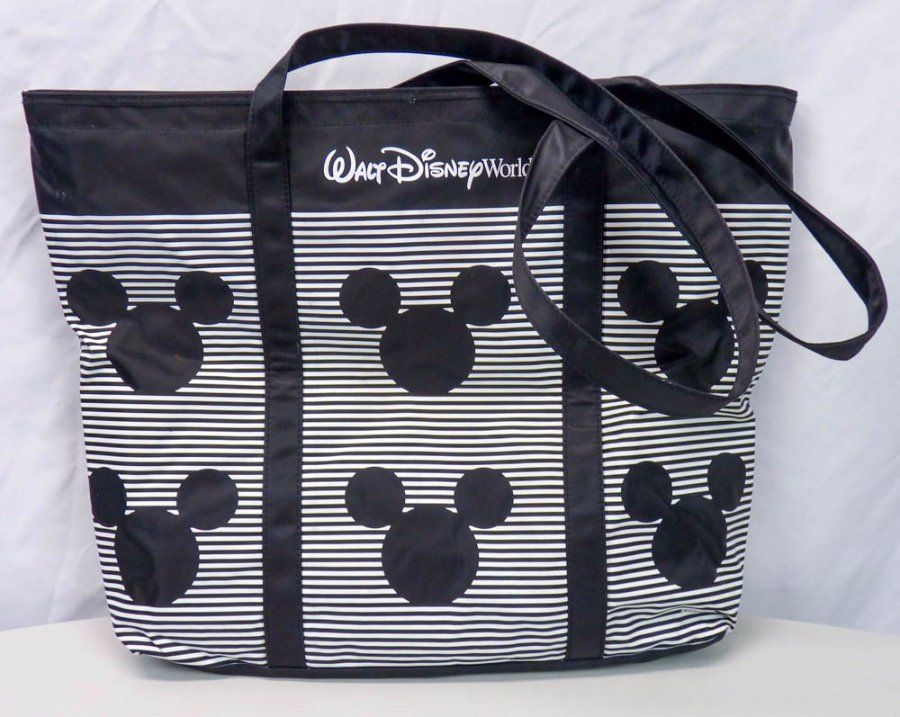 cd89f32d3ca Walt Disney World Striped Large TOTE Bag Iconic Mickey Mouse ...