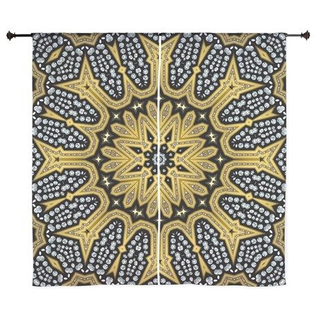 Sold!❤ Arabesque Sun Curtains by Webgrrl #ThankYOU to Maggie of California, USA