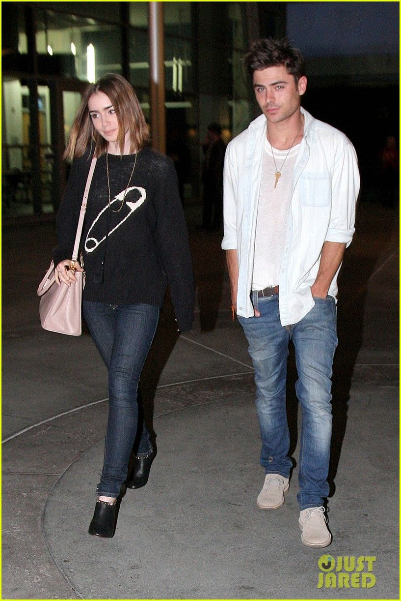 Zac Efron  Lily Collins: Movie Night Out in Hollywood! | Lily Collins, Zac Efron Photos | Just Jared