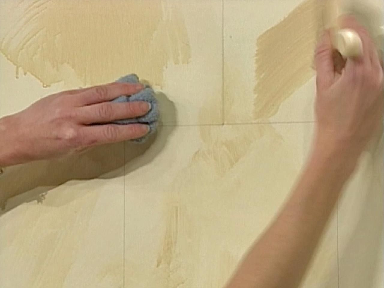 How To Paint A Faux Limestone Finish Faux Leather Walls Faux Tiles Faux Walls