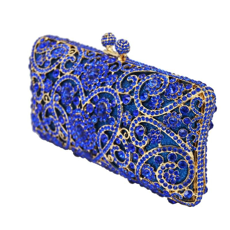 Heart Shape Flower Clutch Bag Crystal Dinner Bag Diamond Party Clutches Women Wedding Purse_10     https://www.lacekingdom.com/
