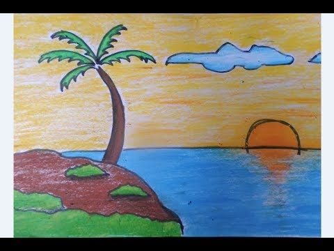 Paling Keren 30 Gambar Pemandangan Laut Dengan Crayon Kaligrafi Pemandangan Laut Cikimm Com Download Cara M Pemandangan Lukisan Lanskap Ilustrasi Lukisan