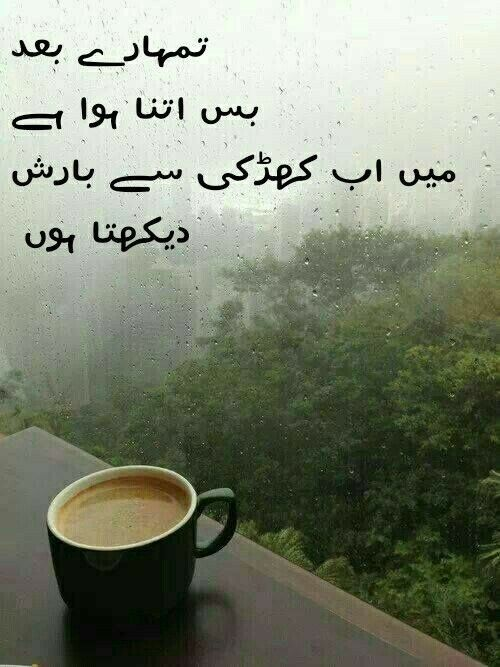 Pin by Ah San Jamil on RAIN (JANNA) | Love poetry urdu ...