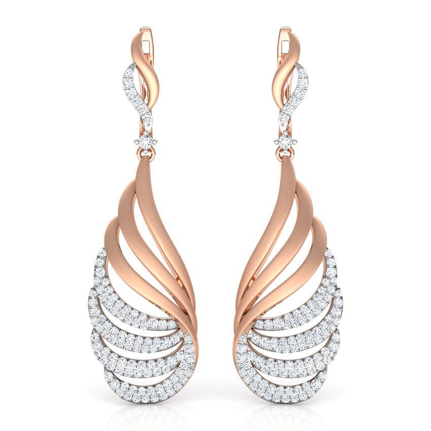 Leafy Drop Lotus Earrings Jewellery India Online