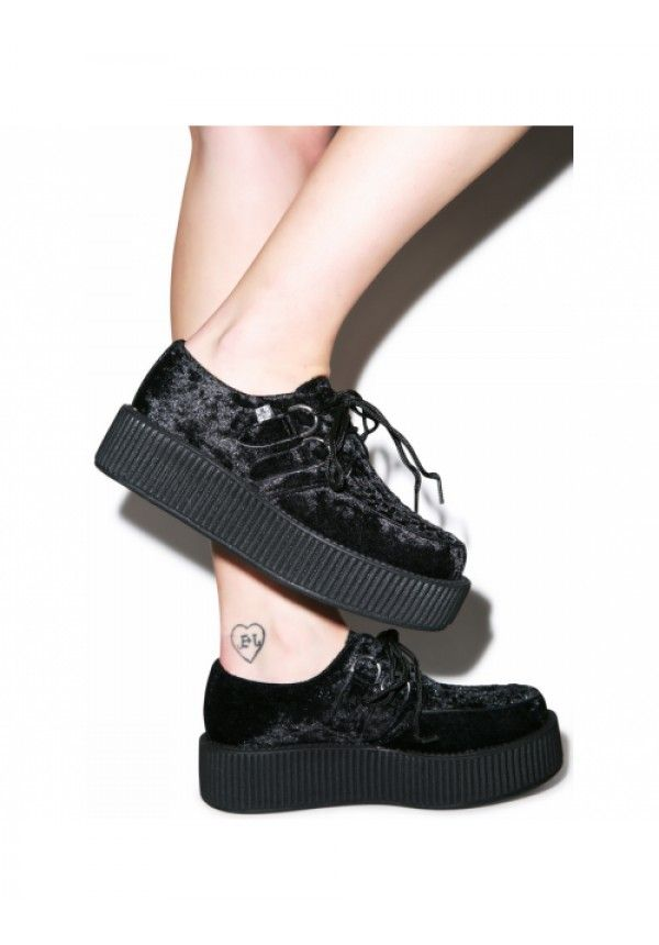 #DollsKill #Creepers #velvet #platforms #shoes