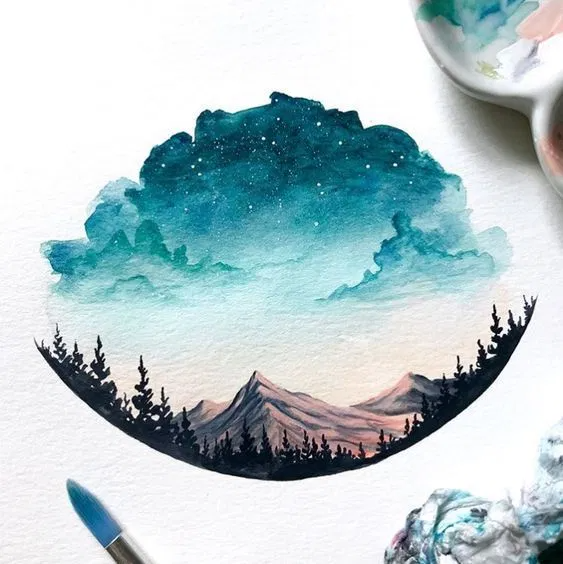 31 Easy Watercolor Art Ideas for Beginners #watercolor #art // Watercolor painting to make