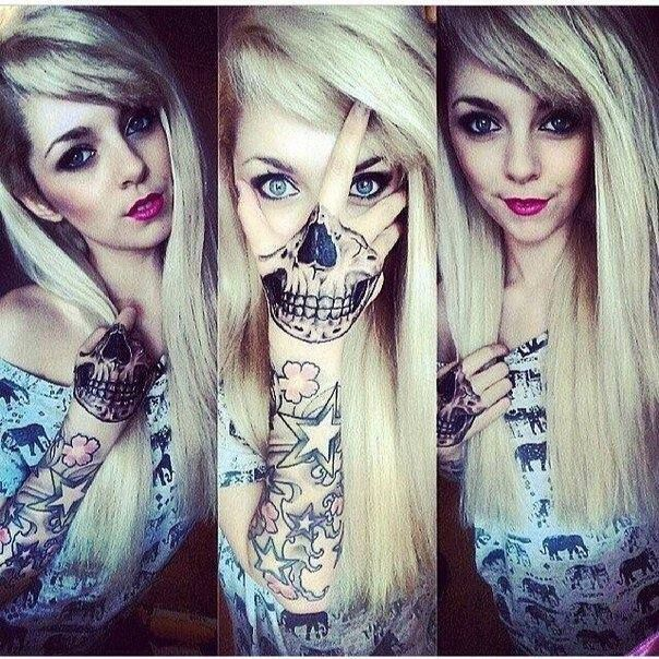 Sick Ink Skull Face Hand All In One Tattoos Skull Hand