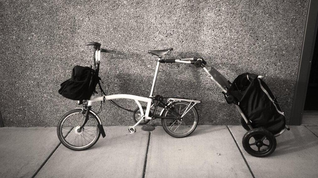 Brompton Folding Bike And Burley Travoy A Compact Folding Duo