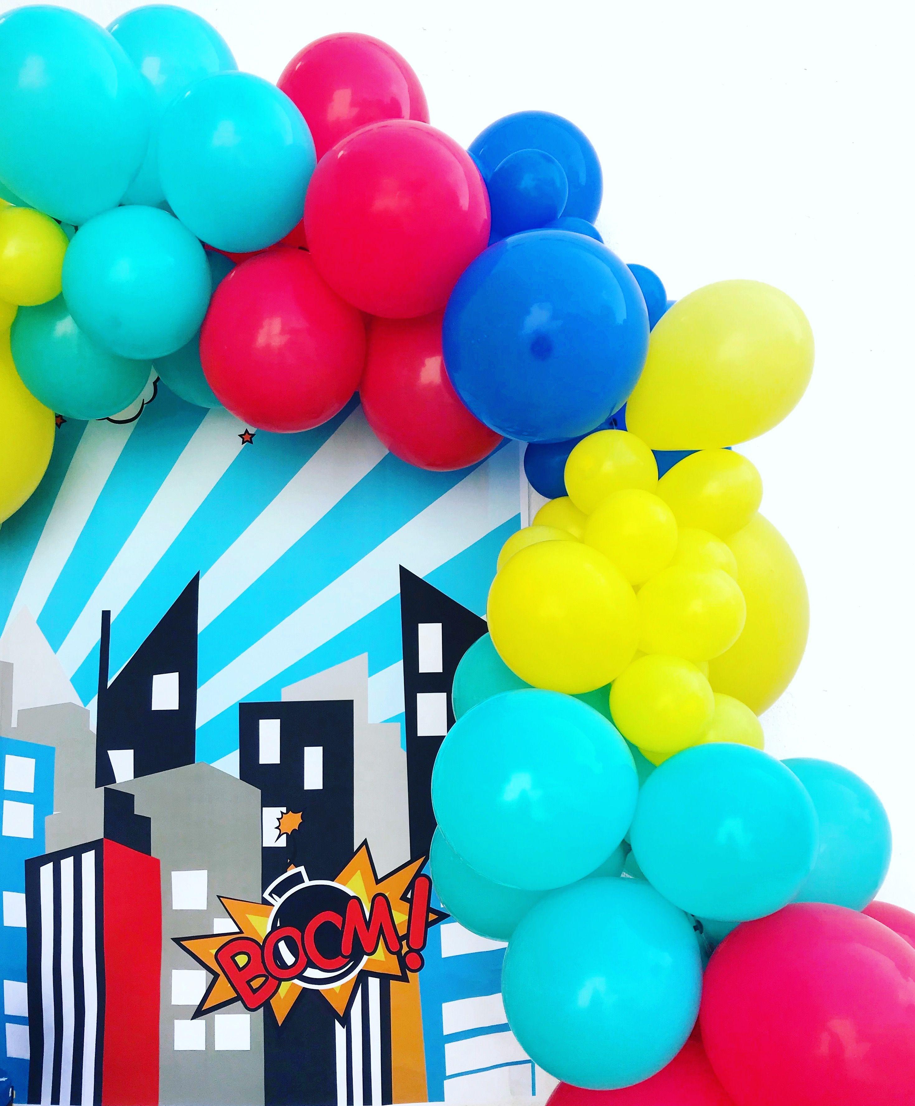 Superhero Party Birthday Balloons Jpg 2939x3552 Safeway Cupcake