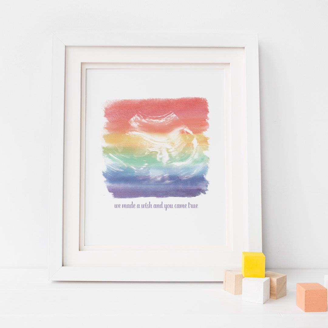 A personal favourite from my Etsy shop https://www.etsy.com/uk/listing/498288934/personalised-baby-scan-print-water