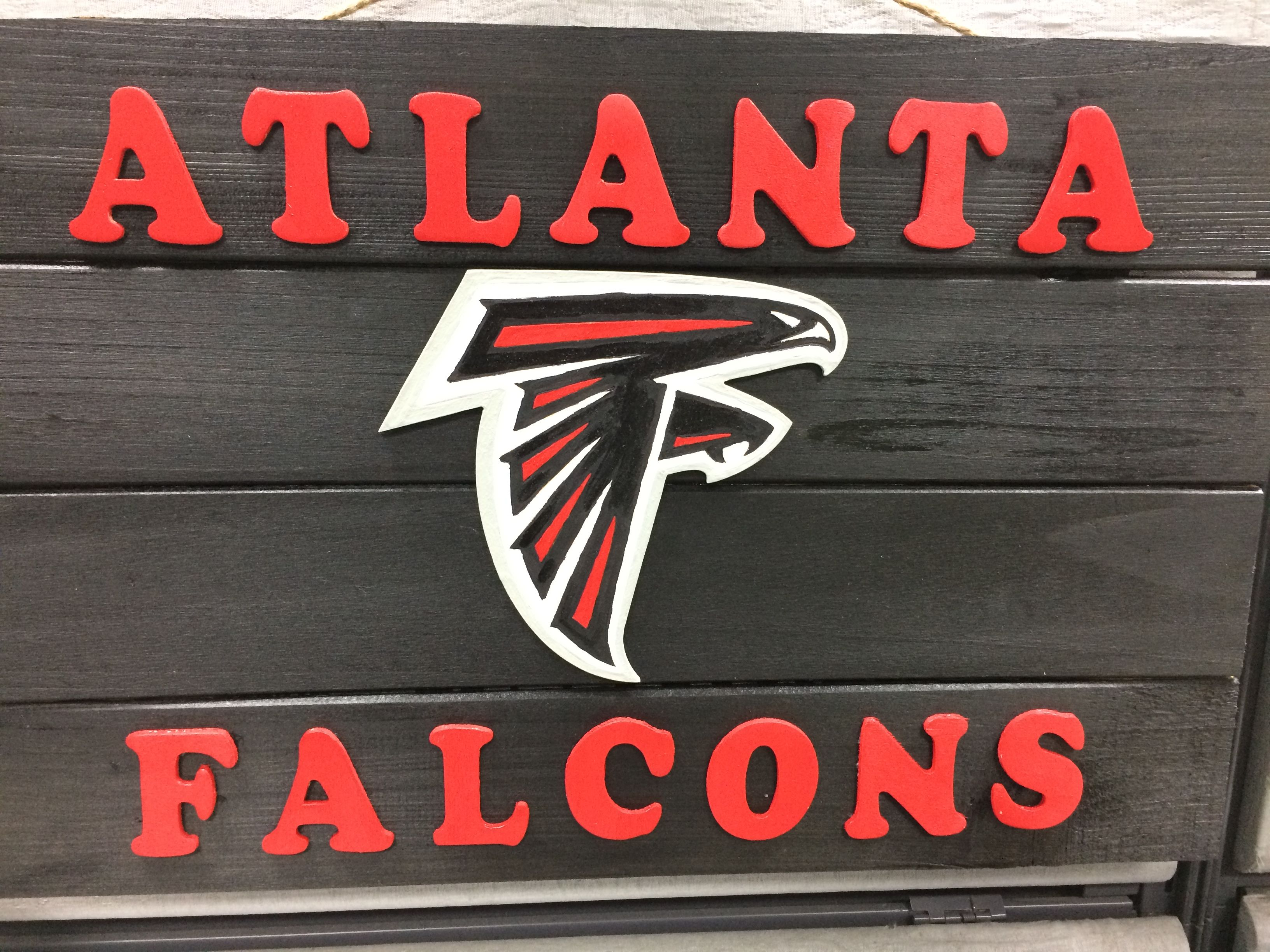 Atlanta Falcons Team Flag With Lettering Atlanta Falcons Atlanta Falcons Team Atlanta Falcons Logo
