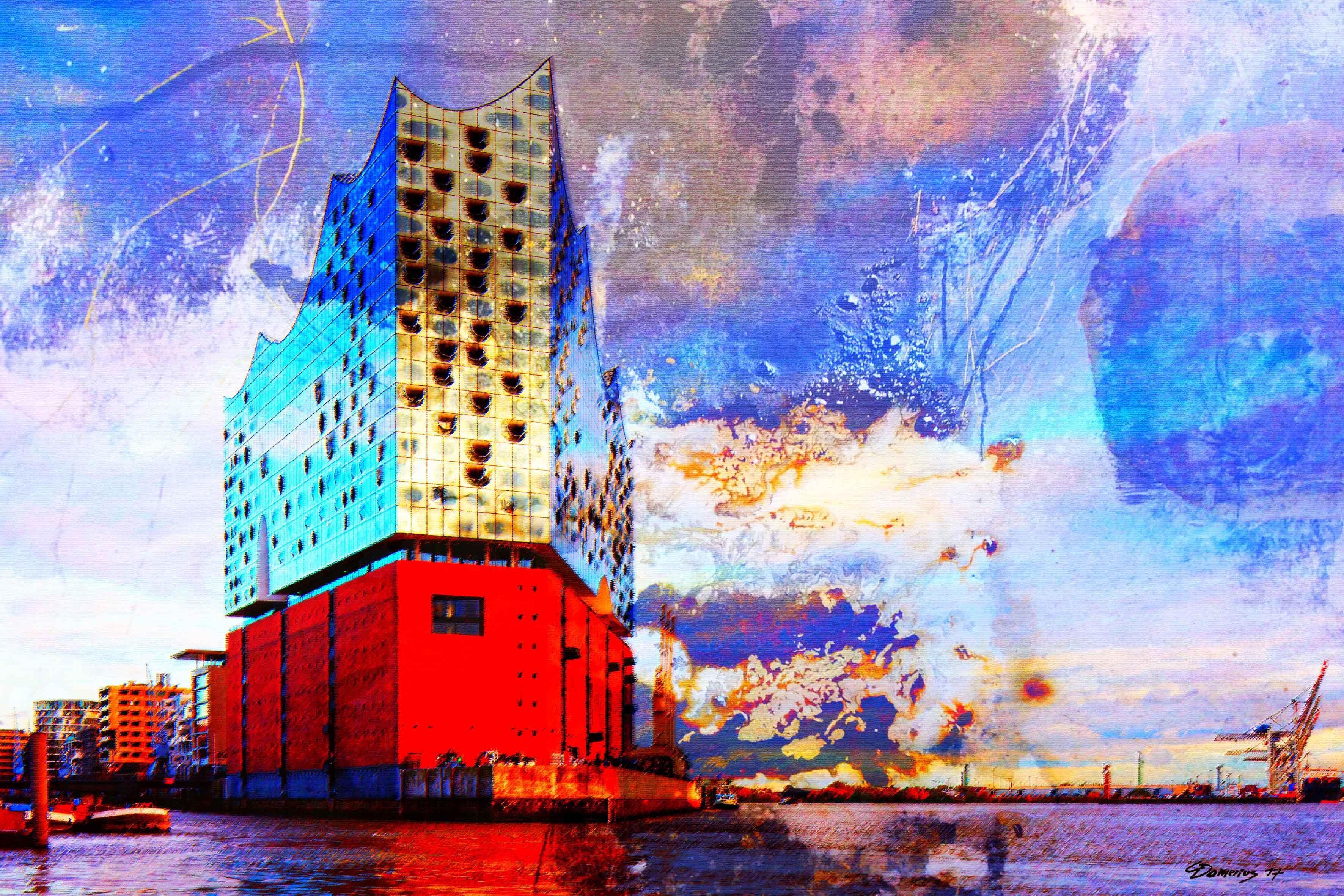 Hamburger Elbphilharmonie Malerei Kunstdruck Moderne Malerei