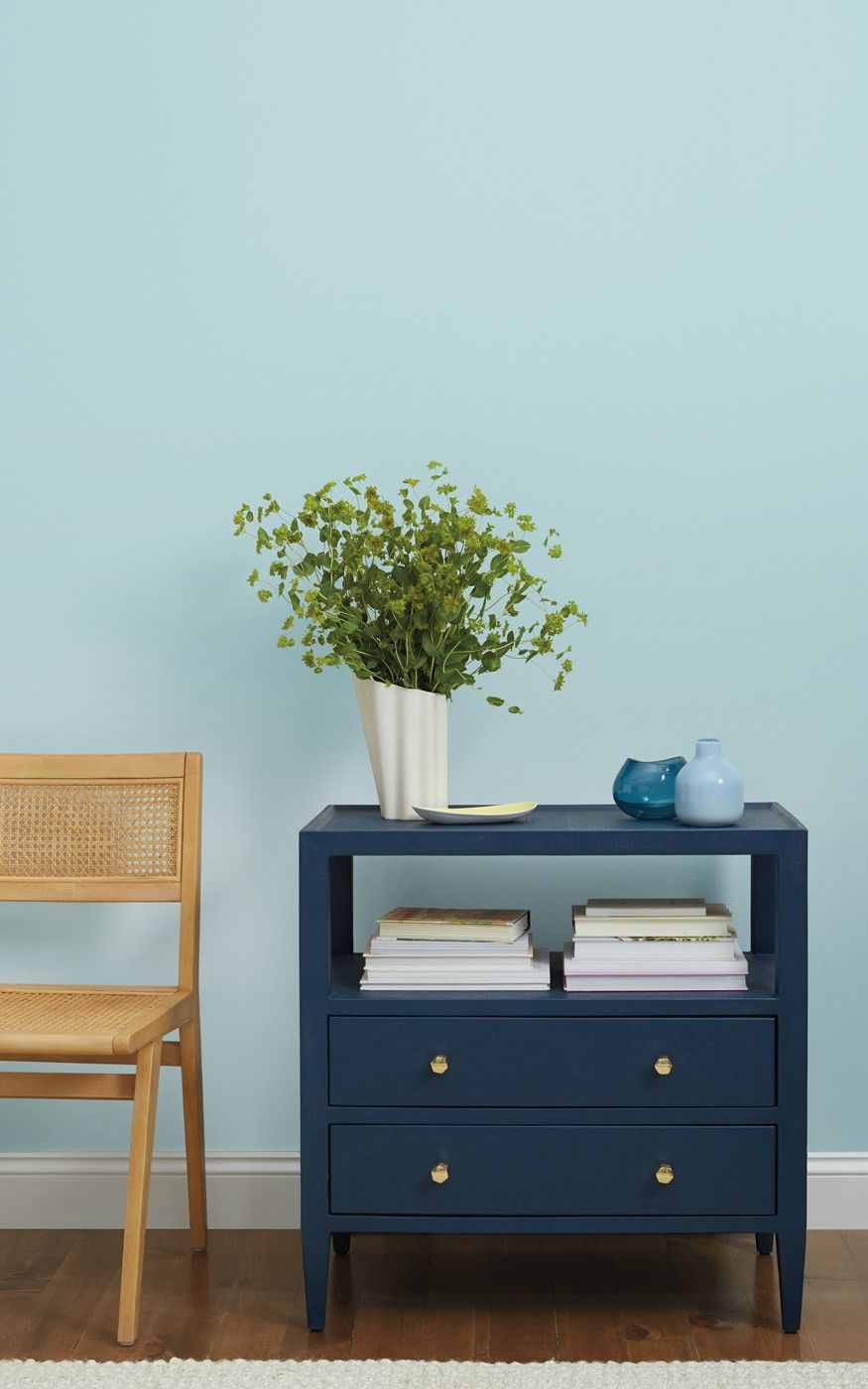 The Best Paint Colors For Your Home Office Blue Wall Colors Blue Interior Paint Blue Painted Walls