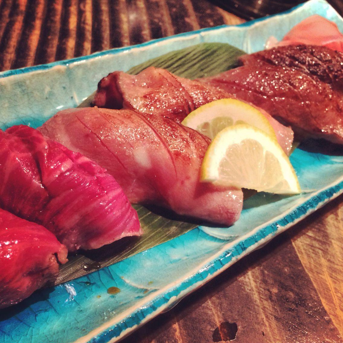 Meat-Sushi. Japanesefoods