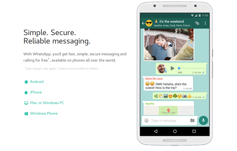 The extensive growth of well known messaging service