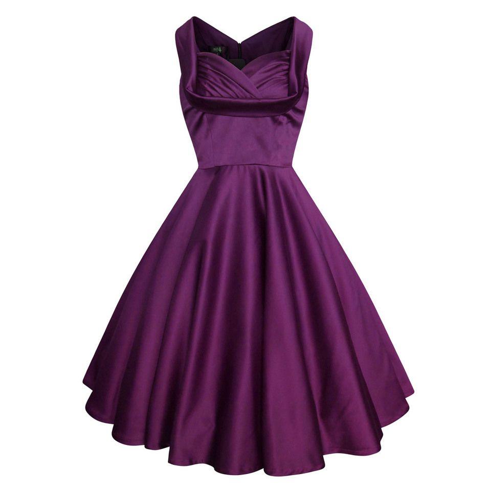 Little Wings Factory - Purple Satin \'Trudy\' Vintage Dress, £15.00 ...