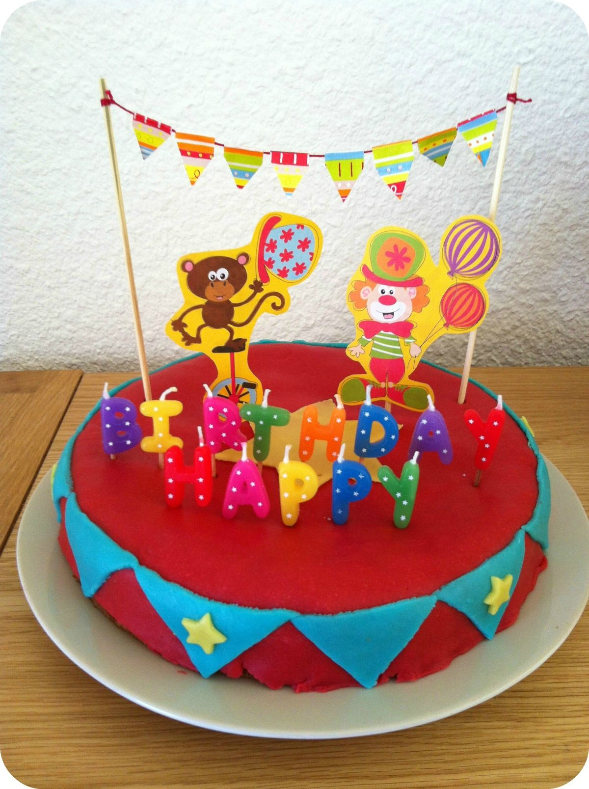 anniversaire theme cirque gateau