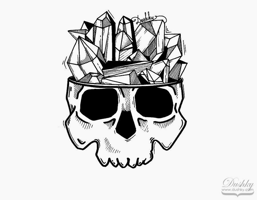 Shady Pete Sticker Skull