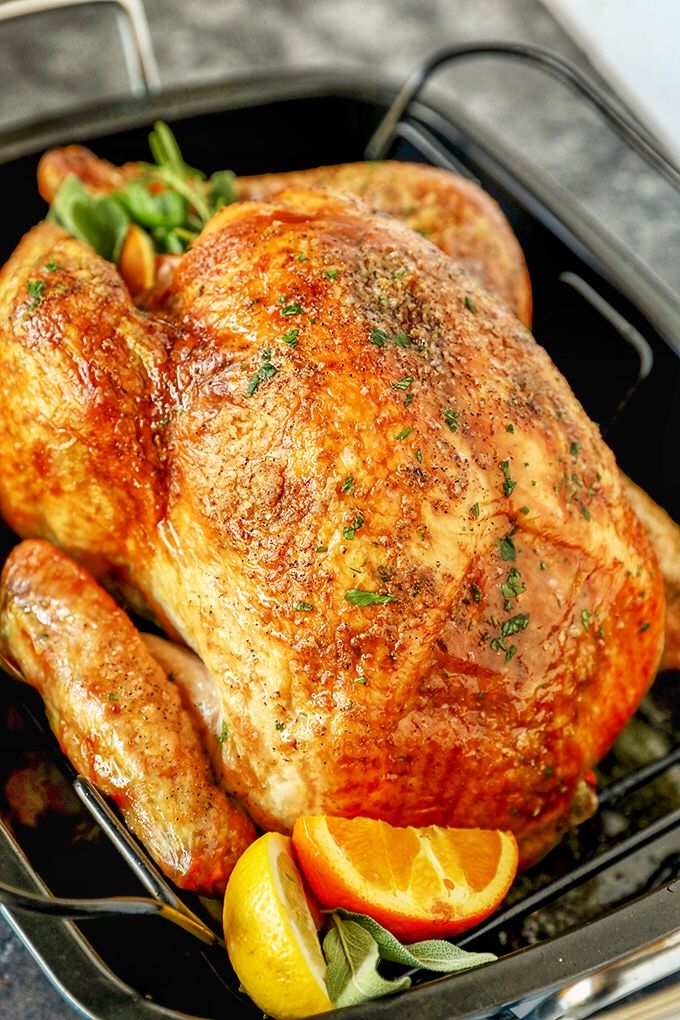 Photo of Garlic Herb Butter Thanksgiving Turkey Recipe