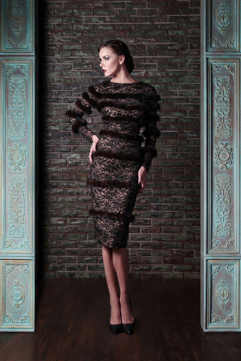 Lace & Mink Couture Dress