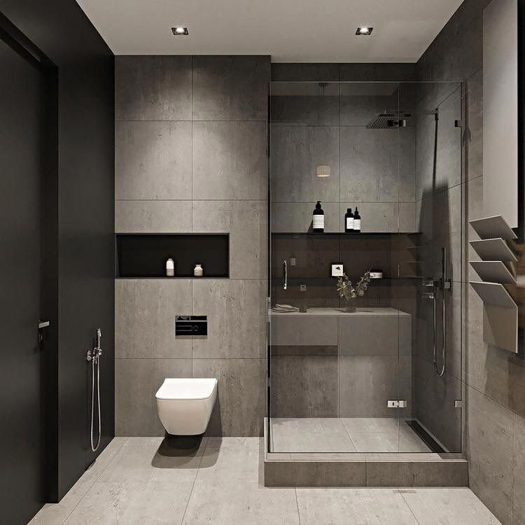 Eu Nao Sei Voces Mas Eu Piro Nesses Banheiros Modernos Quem Ai Gosta De Preto Project By John Mar Bathroom Design Small Small Washroom Design Washroom Design
