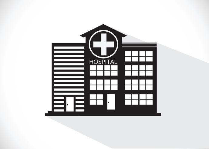 Hospital Building Icon Design In Illustration In 2020 Building Icon Hospital Icon Icon Design