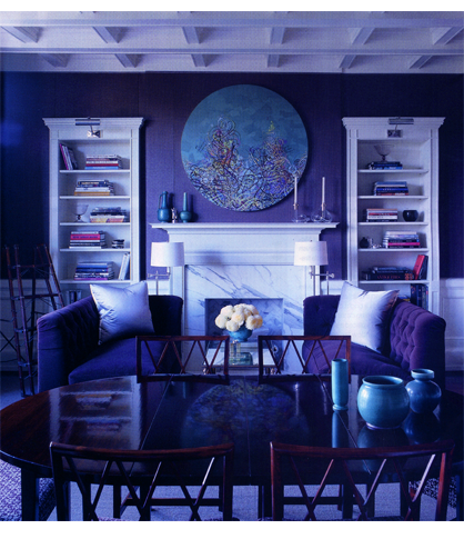 Monochromatic Rooms mood indigo: decorating inspiration in a blue hue i thought you'd