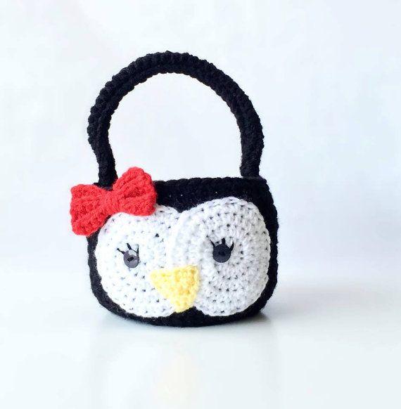 Crochet penguin easter basket penguin photo prop by handmadebydz crochet penguin easter basket penguin photo prop by handmadebydz negle Images