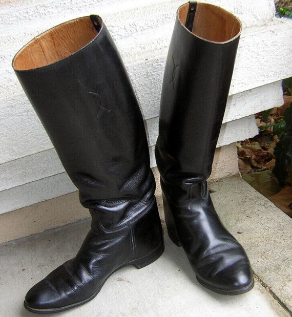 Vintage Leather Riding Boots Mens US ARMY CAVALRY WWII Army