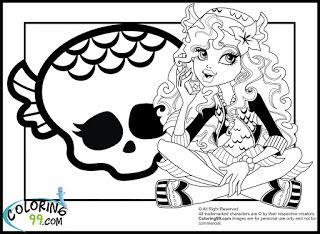 Monster High Lagoona Blue Coloring Pages | Coloring99.com | Coloring ...