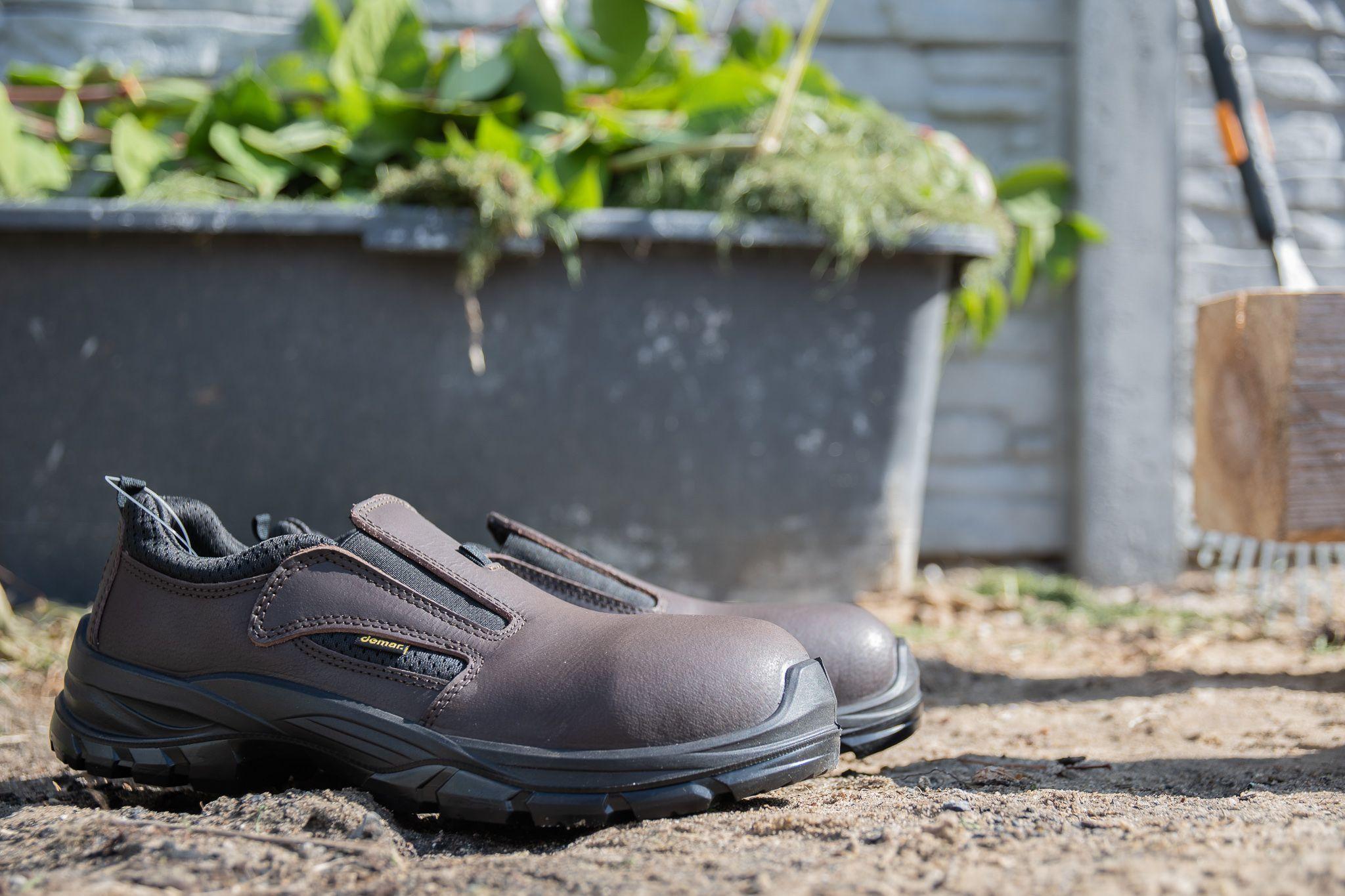 Szybkie Do Zalozenia Buty Robocze Wykonane Na Wzor Mysliwskich Lander S1 Polbuty Ochronne Z Stalowym Podnoskiem P Work Boots Safety Boots All Black Sneakers