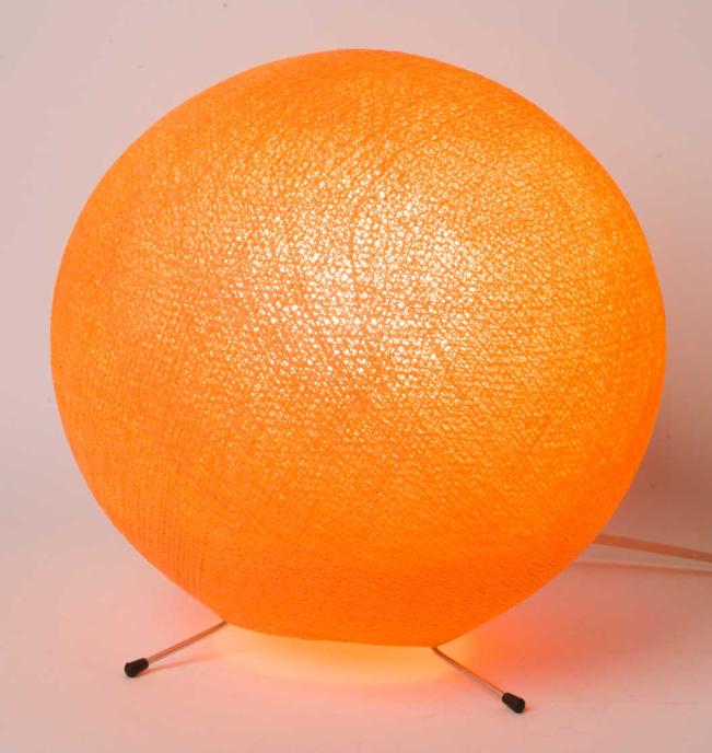 Lampe A Poser Boule #15: Lampe à Poser Boule XS Orange De La Case De Cousin Paul Http://