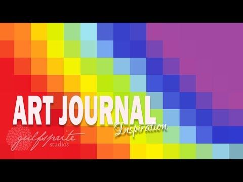 art journal inspiration february roy g biv youtube mixed