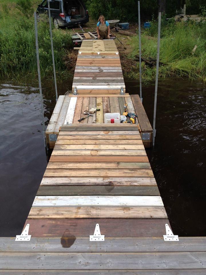 Floating Dock With Barrels (UPDATED) | Dock | Floating dock