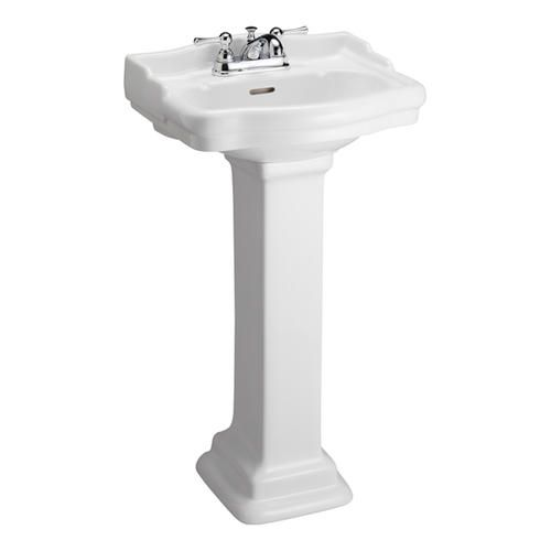 Barclay Stanford H White Vitreous China Pedestal Sink Assembled Height  (Inches) Assembled Length (Inches) 15 Assembled Width (Inches)