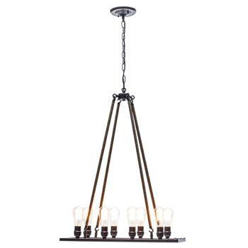 """Jillian 48"""" 8 Light Chandelier by Globe Electric"""
