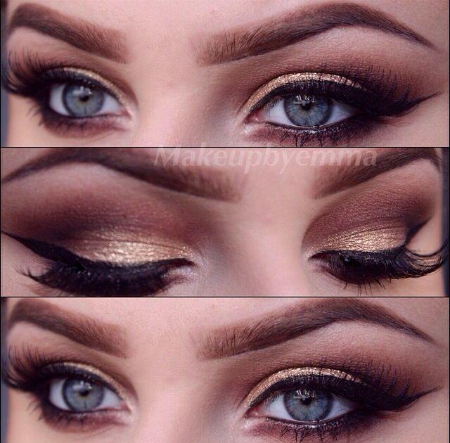 Dramatic Brown Eye Makeup Hair And Makeup Pinterest Brown Eyes