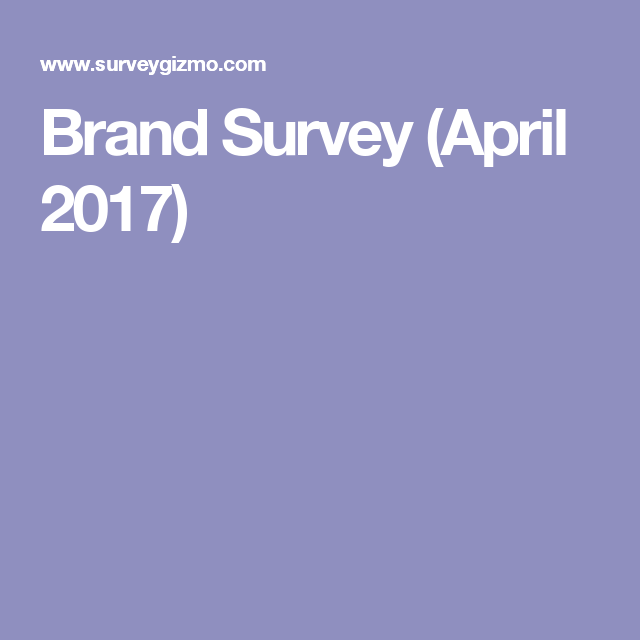 Brand Survey (April 2017)