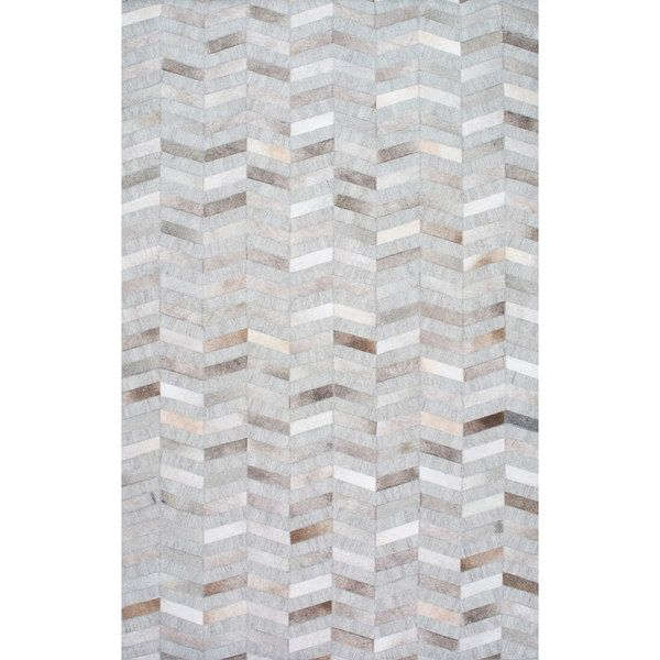 Nuloom Handmade Modern Patchwork Herringbone Leather