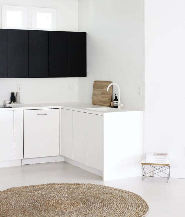 Kitchens that Get Black  White Just Right Color combos, Apartment