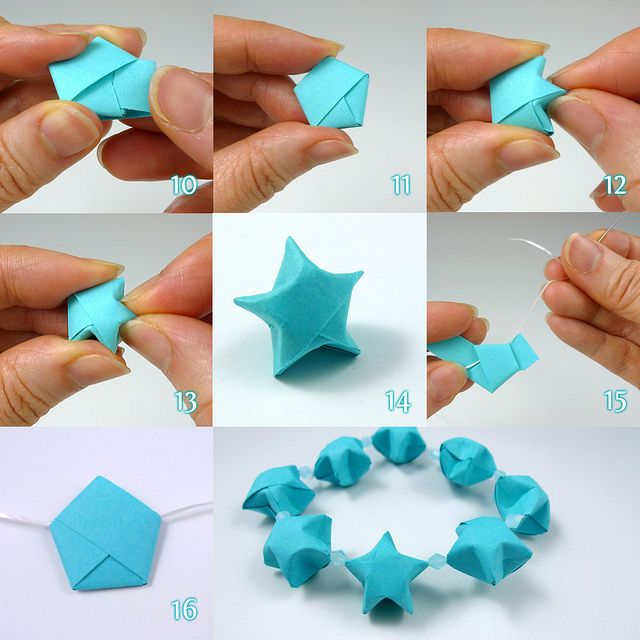 Lucky stars folding steps by all things paper via for Paper folding art projects